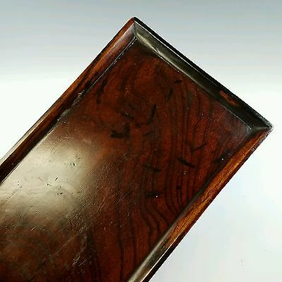Antique Chinese Hand Made Burl Wood Tea Tray
