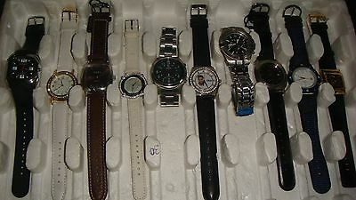 /trade Only Job Lot Of 10 X  Mixed Names  Watches 100% Gen  ../