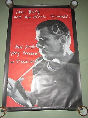 """Large Original Promo Poster - Ian Dury and the music students  Very Personal 7"""""""