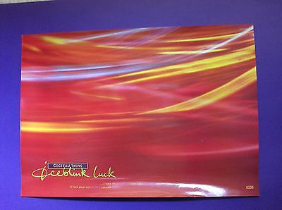 "Cocteau Twins Iceblink Luck ORIGINAL 1990 24"" x 17"" PROMO POSTER 4AD indie"