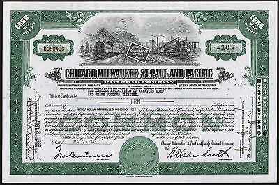 Chicago, Milwaukee, St.Paul & Pacific Railroad Co., less than 100 shares, 1939
