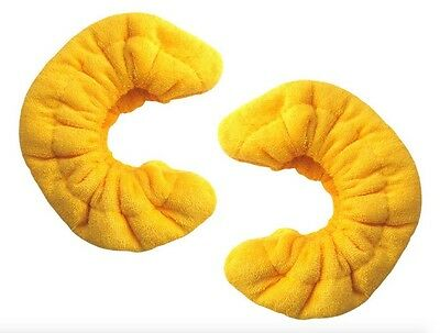 Soft Terry Blade Covers For Ice & Figure Skates Yellow - Size Large
