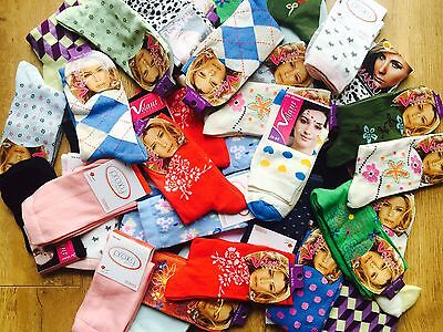 20 pairs luxury ladies womens coloured design socks cotton blend size 4-7  JKHMN