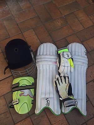 Cricket Kit NEAR NEW Helmet, Batting Pads, Thigh Guard and Gloves!