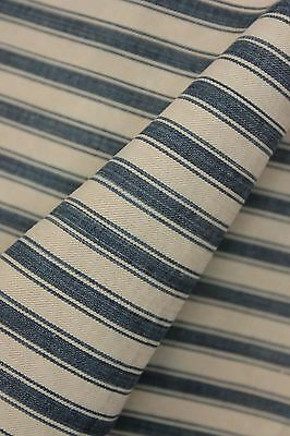 Indigo Ticking French fabric denim antique vintage indigo blue stripes material