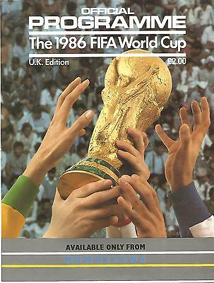 Football Programme - 1986 World Cup - Official Tournament Programme - UK Edition