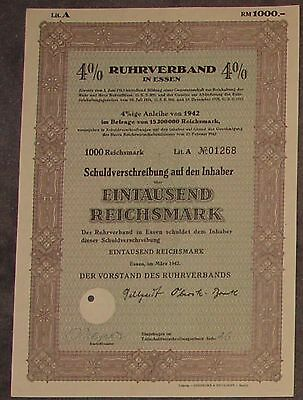 Ruhrverband in Essen 4 % 1942 1000 RM