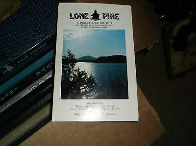 lone pine a sumer camp for boys booklet
