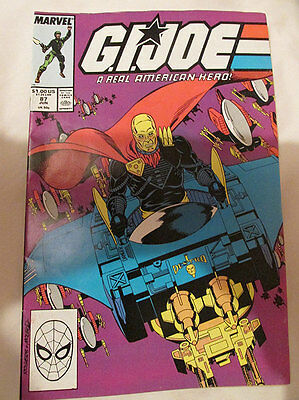 MARVEL COMICS - G.I. JOE - No.87 - JUNE 1989 - SCARCE.