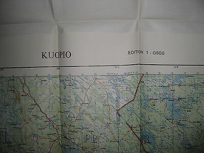 1957 WAR OFFICE Map FINLAND - KUOPIO 103B - Mint Condition