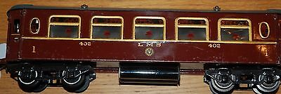 HORNBY SERIES O GAUGE No 2 SALOON COACH IN LMS RED LIVERY