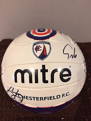 Chesterfield Fc Signed Ball- 2011-13 Ideal Xmas/ Birthday Gift