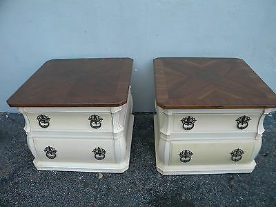 Pair of Mid-Century Hollywood Regency Nightstands / End Tables by Weiman 2790
