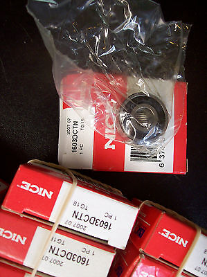 'NICE' (1) BALL BEARING, 1603DCTN, TG18, New in Manufactue Packaging