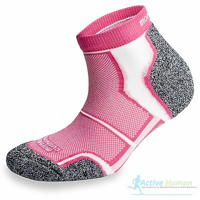 3 Pairs More Mile Cushioned COOLMAX Sports Running Ankle Socks Gym Womens Pink