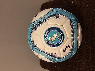 Wycombe Wanderers Fc Signed Ball- 2011-13 Ideal Xmas/ Birthday Gift