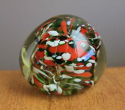 Unusual Vintage Art Glass paperweight paper weight colorful