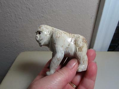 Gorilla, Hand carved Marble from the Andes. Rich Colored Stone, Unique Gorilla