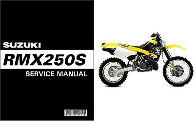 1998-1999 Suzuki RMX250S Service Manual on a CD