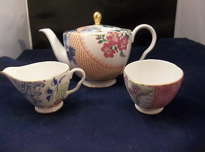 Wedgwood Butterfly Bloom Tea Story 3 piece Tea Set