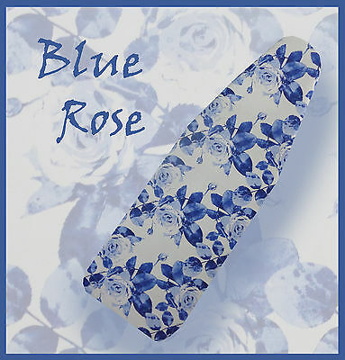 """NEW """"BLUE ROSE"""" Ironing Board Cover -  Perfect Xmas Gift!"""
