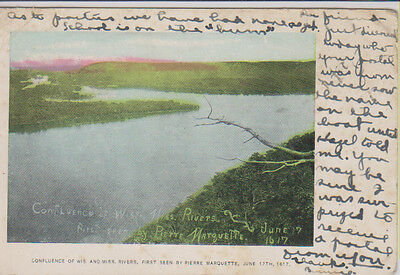 1907 PC Confluence Wis. and Miss. Rivers (g2125)