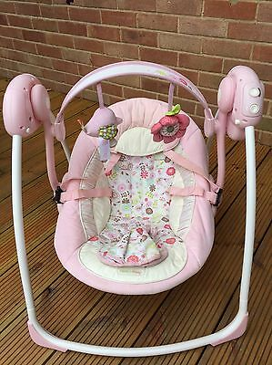 Bright Stars Comfort And Harmony Baby Swing Pink Musical