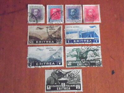 Eritrea ~ Mixed Used ~ Lot 11 ~  (Some Paper Remnants ) (NHLF)