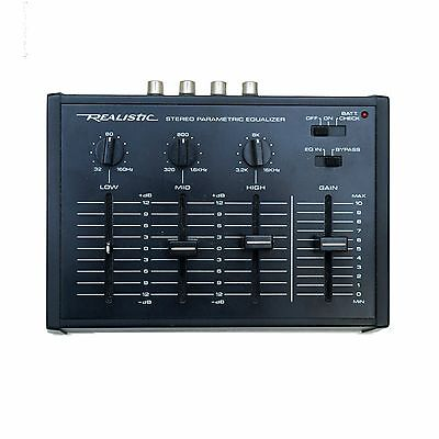 Vintage Realistic 3-Band Stereo Parametric Equalizer