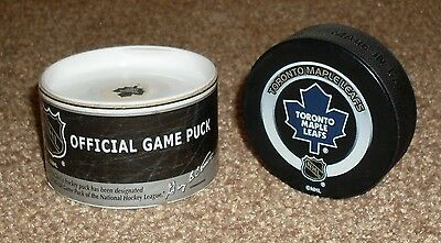 RARE Collectable Boxed NHL Ice Hockey Official Game Puck Toronto Maple Leafs