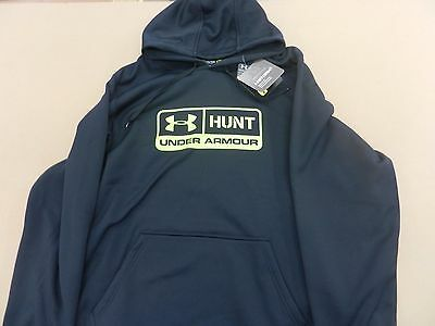 NWT Men's Under Armour Logo Storm Hunt Pill Hoody 1261062 SIZE LARGE