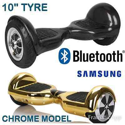 """10"""" TYRE & CHROME Gold Bluetooth Samsung hoverboard electric - NEXT DAY DELIVERY"""