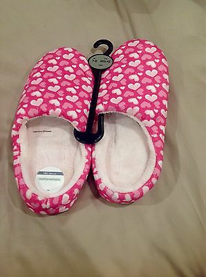 M&S Ladies Pink Slippers Size 7-8 New