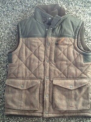 mens shooting style gilet jacket from next brown size XL