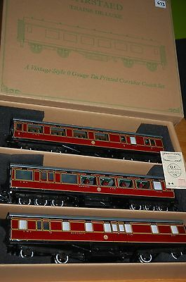 Darstaed Set B Lms  O Gauge Three Coaches Period 11 And Dinning Car Boxed