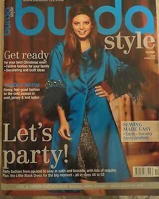 Burda Style Magazine Dec 2009 with complete attached Pattern Sheets.