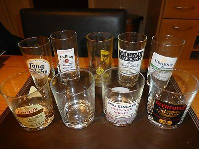 selection whisky glasses