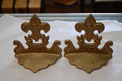 Vintage Boy Scouts of America Cast Iron Be Prepared Bookends