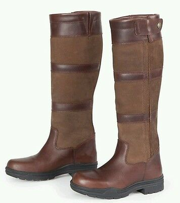 shires Broadway country yard riding boots size 6 XW extra wide calve
