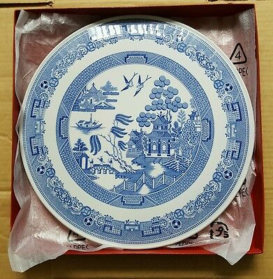 """Spode  cake plate 11.5"""" willow pattern"""