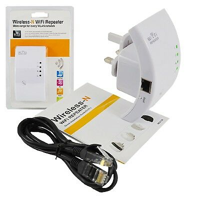 300Mbps Wireless N 802.11 AP Wifi Repeater Range Booster Extender Router UK Plug
