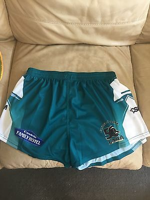 Rugby League Playing Shorts CRL NRL Footy Football Panthers Teal 2XL