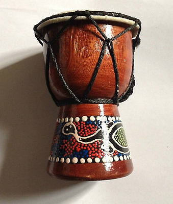 Djembe Drum 12cm Bongo African Style Wooden Professional Hand Painted Fair Тrade