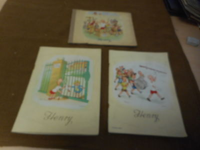 CIGARETTE CARDS COMPLETED ALBUMS - J WIX HENRY x 3 DIFFERENT