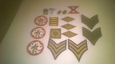Lot of Military Pins & Patches