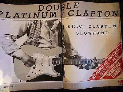 "Eric Clapton ""Slowhand "" Album 2page Billboard Ad 1978"