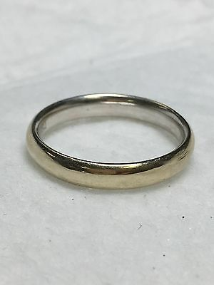 750 / 18K Solid White Gold Wedding Band Ring Size 10.25 - 4mm