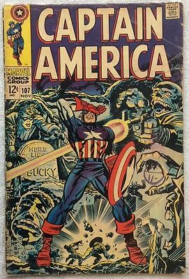 Captain America #107 (1st series) 1968 Marvel classic. VG condition for age.