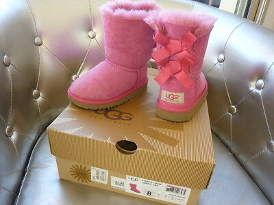 UGG boots BOTTES pointure 25 bottines rose noeuds chaussures fille TTBE 135€