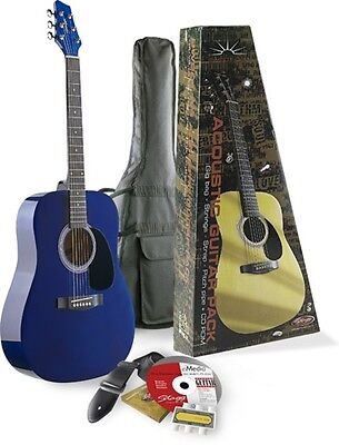 STAGG SW201 3/4 Size Acoustic Guitar Package Transparent Blue